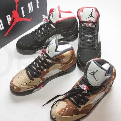 シュプリーム エアフォース 偽物 Nike Supreme Air Jordan 5 エアジョーダン 限定 コラボCamo