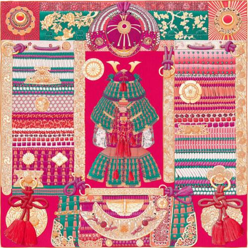 エルメス スカーフ コピー カシミアショール140 侍の鎧兜 スカーフ ストールH243071S 07