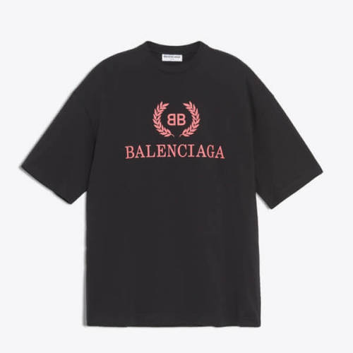 バレンシアガ t シャツ コピー 18SS 'BB Mode'ホワイト 女性にも オーバーサイズ