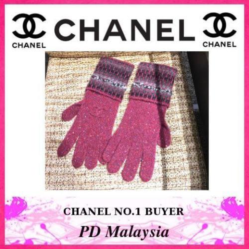 シャネル手袋スーパーコピー CHANEL カシミア×手袋×CoCoロゴ 最新作 ピンク系