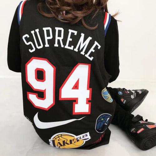 スーパーコピー Supreme Nike NBA Authentic Jersey Black スポーツ