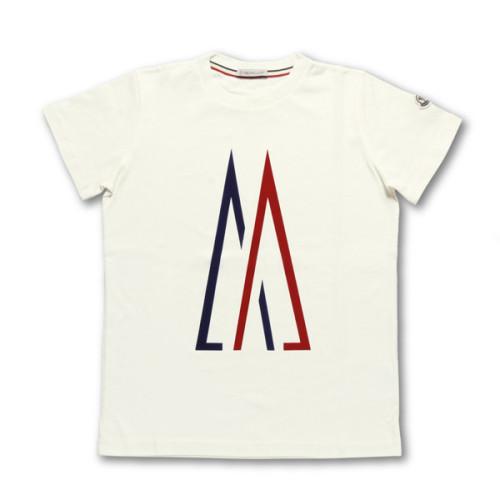 モンクレール MONCLER Tシャツ コピー キッズ ボーイズ 8023750 83907 034 半袖Tシャツ WHITE ホワイト