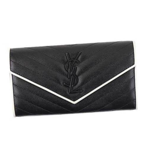 サンローラン 財布コピー 372264 BOWC8 1006 キルティングレザー 長財布 キャビアスキンのようなこまかな凹凸の光沢が美しく映える上品な仕上がりになっています
