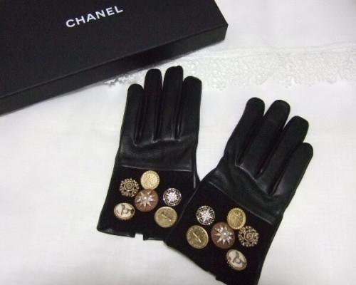 豪華ビジュー付き シャネル手袋スーパーコピー レザー グローブ