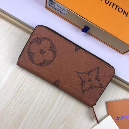 ルイヴィトン ジッピーウォレット 財布 偽物 モノグラムリバース ジャイアント リバース キャンバス ライニングはレザー M67687