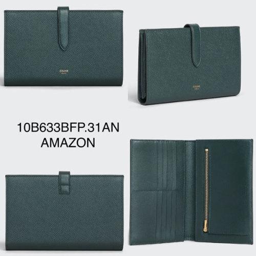 CELINEコピー【入手困難】人気STRAP WALLET Lサイズ 長財布 パスポート 10B633BFP