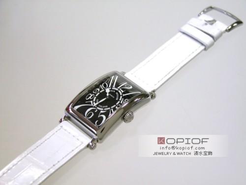 フランクミュラー ロングアイランド スーパーコピー902Q OG OG(WG) ホワイト皮 ブラック