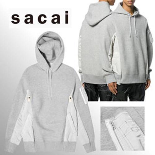 【Sacai】人気!オーバーサイズ グレー サカイパーカー 偽物