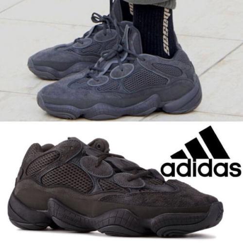 人気話題!アディダス 靴 偽物【adidas x Kanye West】 Yeezy 500 Utility Black F36640