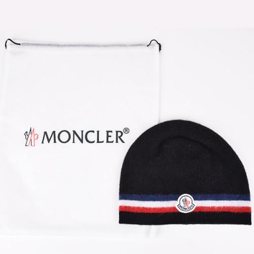モンクレール シューズスーパーコピー ブラックヴァージンウールニットキャップ 帽子 0026300 02P05Nov16