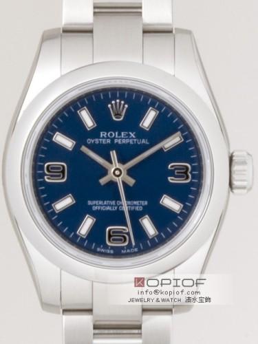 ロレックス パーペチュアル スーパーコピーレディース 176200 ブルー3・6・9ホワイトバー