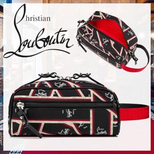 クリスチャン ルブタン コピー Christian louboutin Blaster 20AW カーフスキン ロゴ メンズバッグ 新作 3205353J185