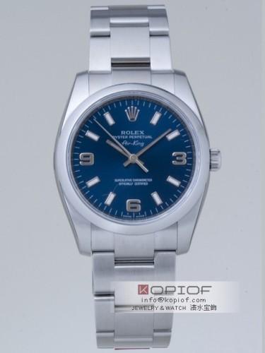 ロレックス エアーキング スーパーコピー114200 ブルー3・6・9アラビア