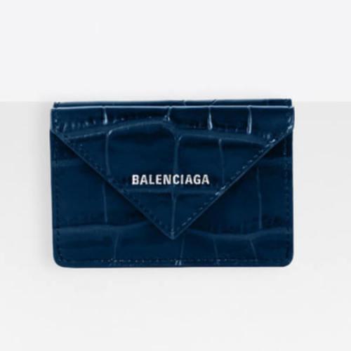 新作★BALENCIAGA★ コピーPapier mini wallet クロコダイル★3つ折り財布/クロコ3914460R70N4260