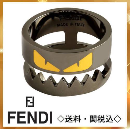 fendi モンスター 偽物 フェンディ 指輪 リング ロゴ刻印 バッグバグズ Bag Bugs Ring