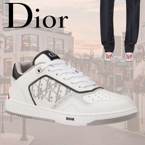 DIOR&SHAWN◆ B27 スニーカー ホワイト カーフスキン 靴偽物 3SN272ZJJ_H063