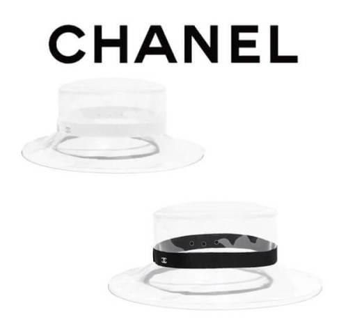 2019新作限定 シャネル キャップ スーパーコピーCHANEL帽子 PVC クリア素材 ハット