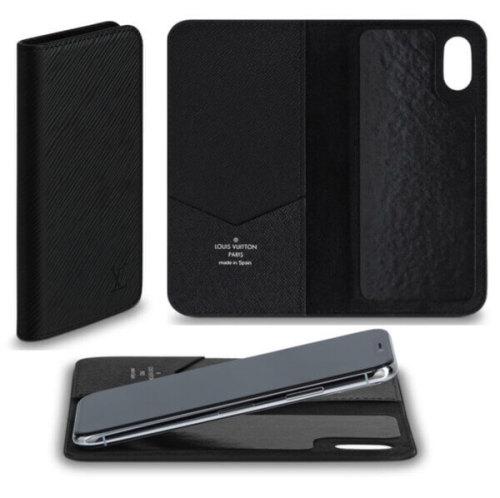 ルイヴィトン iPhone XS スマホケース コピー フォリオ エピ ノワール M64469