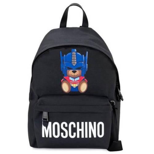 モスキーノ リュック コピー ブラック ベアバックパック Transformer Teddy Backpack