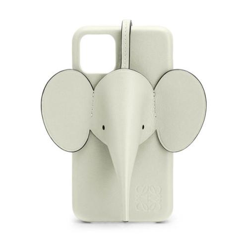 【LOEWE ロエベ iPhoneケース コピー】エレファント Elephant セージ Elephant イエローC719C80X03