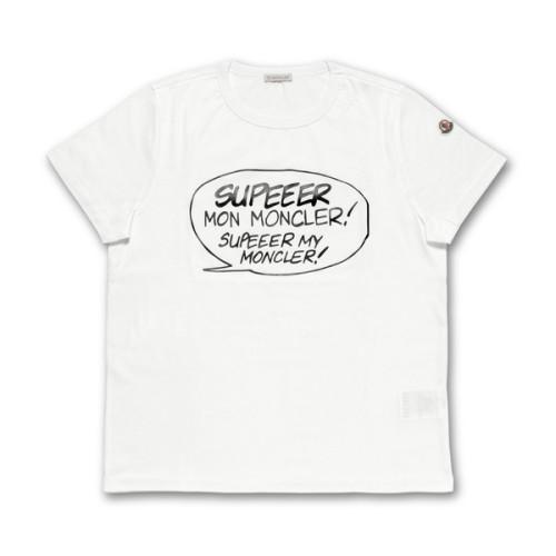 モンクレール MONCLER Tシャツ コピー レディース 8085150 8390X 001 半袖Tシャツ WHITE ホワイト