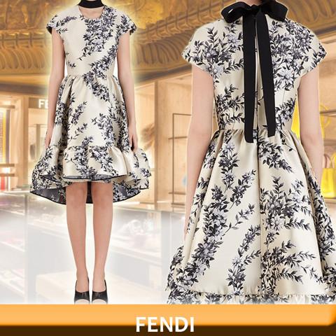 FENDI フェンディ マルチ シルク ドレス フェンディ コート コピー