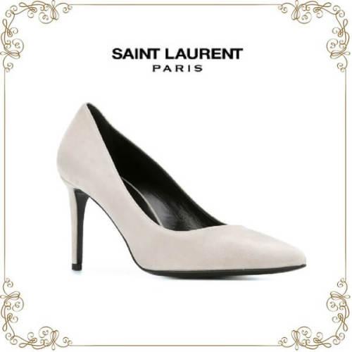 2017新作入荷人気 サンローラン靴コピー Paris パンプス グレー