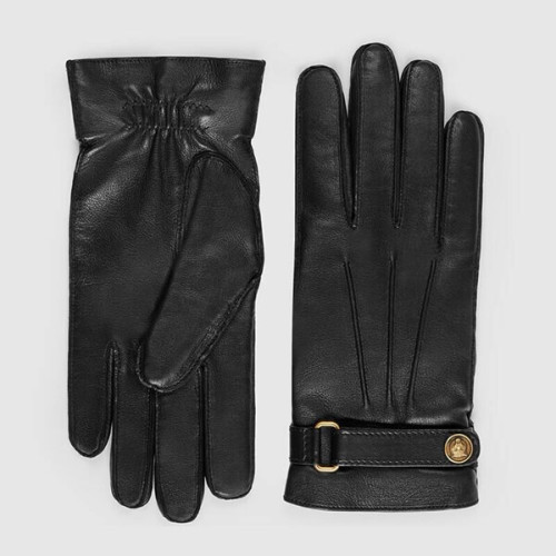 【GUCCI】キャットヘッドベルトモチーフ 手袋偽物*レザー*グローブ 475379 4SA04 1000