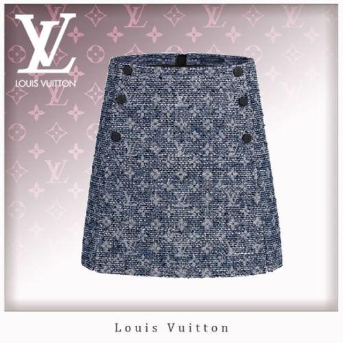 20SS Louis Vuitton スーパーコピーツイードAラインミニスカート 1A61A7