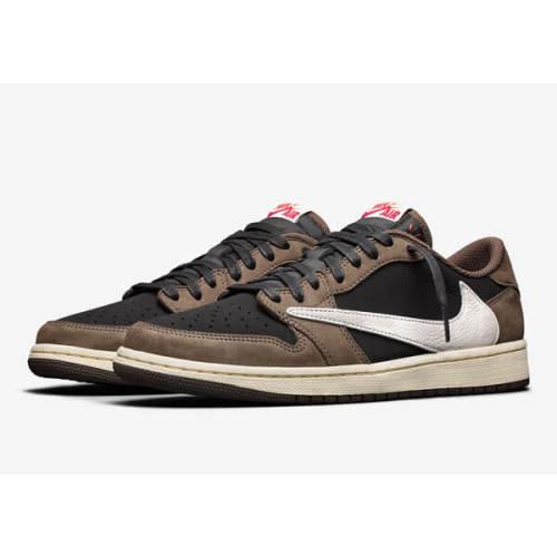 ナイキ エアージョーダン スニーカー コピー Travis Scott x Nike Air Jordan 1 Retro Low OG SP AW 19 2019 Mocha