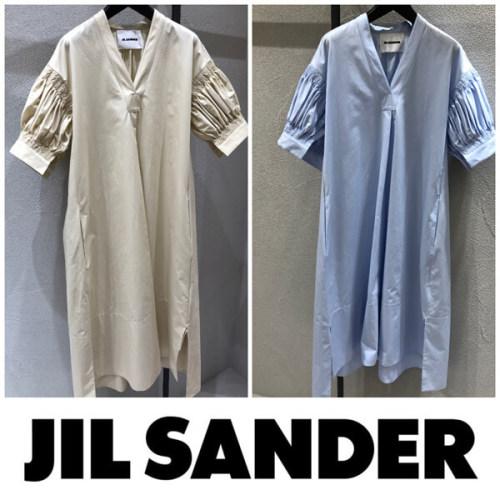 ジルサンダー ドレス コピー Jil Sander 2020SS新作 Vネック ドロップショルダー ドレス