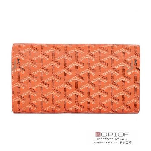 ゴヤール 財布 スーパーコピー長財布 三つ折り オレンジ go119