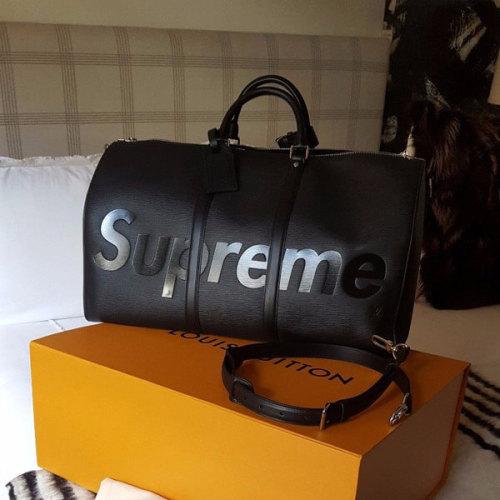 ルイヴィトン コピー シュプリーム M53433 Supreme 旅行鞄 Vuitton KEEP.45 BA.SP EPI DWT