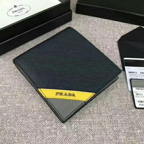 プラダ 財布コピーPRADA サフィアーノカーフ 折りたたみ財布 2M0513 2EG0 SAFFIANO