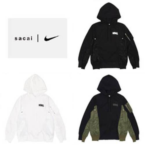 サカイ注目コラボ コピー Sacai x Nike Lab U Nrg Rh Hoodie S~XL 選べる3色