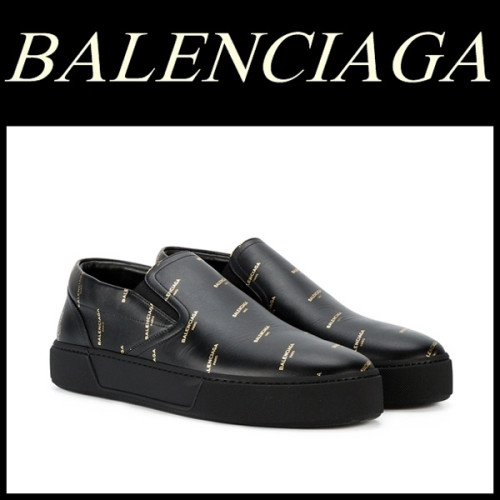 18SS BALENCIAGA オールオーバー ロゴ スリッポン バレンシアガスーパーコピー