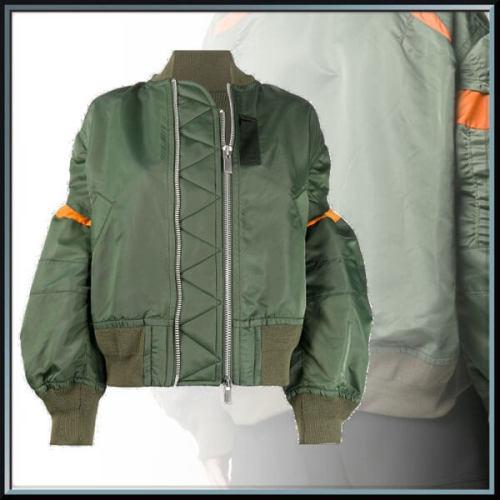 サカイ MA-1 コピー大人気◆コント ラストパネル ボンバージャケット