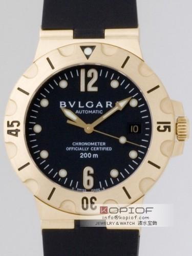 ブルガリ スクーバー スーパーコピープロフェッショナル SD38GVD スクーバー ブラック
