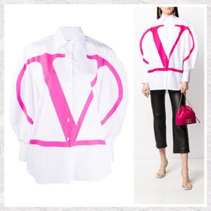 新作【VALENTINO】ヴァレンティノ Vロゴシャツ コピー WHITE TB0AB17C1M142Z