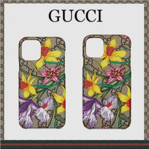 グッチ iphoneケース コピー GGフローラ iPhone 11 & 11 Pro ケース Ophidia 631703 631702