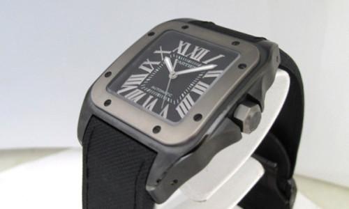 カルティエ サントス100 スーパーコピー100 LM カーボン W2020010 TI/SS 黒ブラック