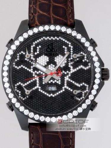ジェイコブ ファイブタイムゾーン スーパーコピーJC-SKULL11BC 1重ベゼルダイヤ 47mm 全面ダイヤ