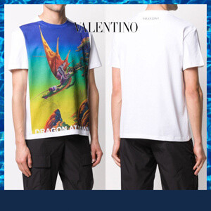 VALENTINO VALENTINO ヴァレンティノ Tシャツ コピー ドラゴンプリント TV0MG06L69184M