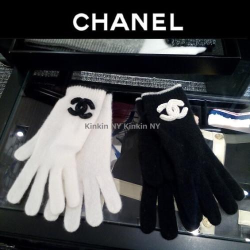 シャネル手袋スーパーコピー カシミア手袋 BLK 在庫あり