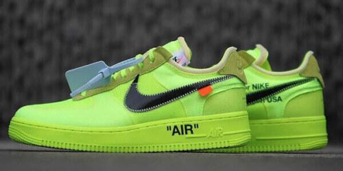"""オフホワイト パーカー 偽物 超限定♪[Nike x OFF WHITE] Air Force 1 Low """"Volt"""" The Ten"""