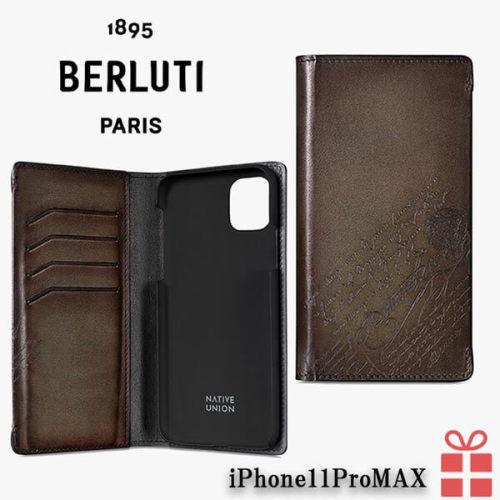 ベルルッティ iphoneケース コピー iPhone11ProMAX スクリットレザーケース