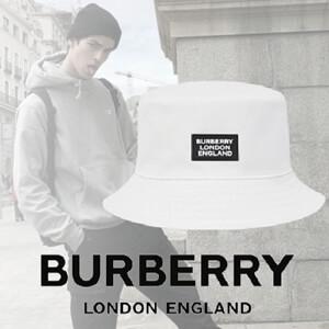 【BURBERRY】 大人気! バーバリー キャップ コピー ロゴアップリケ コットン バケットハット