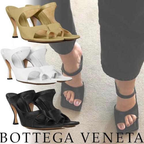 2020ss《Bottega Veneta》ボッテガヴェネタ サンダル 偽物 ナッパレザー スクエアトウ 610521VBSH09122