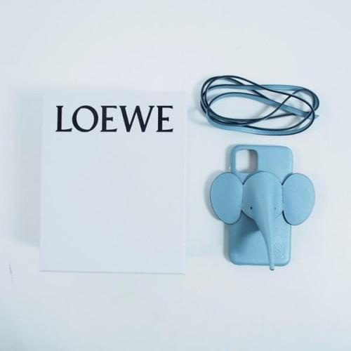 【LOEWE ロエベ iPhoneケース コピー】エレファント Elephant 水色 偽物 C719C80X03