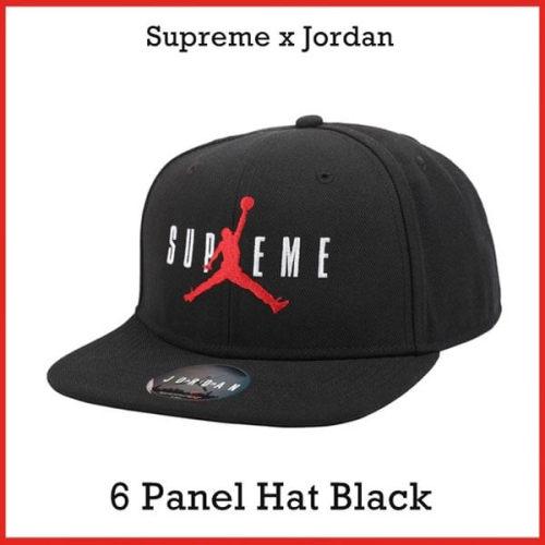 シュプリーム ビーニー 偽物 Supreme NIKE Air Jordan 6 Panel Hat Black fw